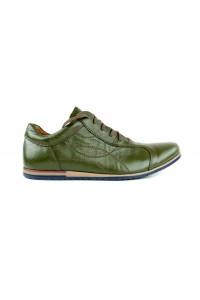 Olivgrüne urbane Schuhe