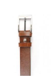 Brown Ledergürtel mit Schnalle
