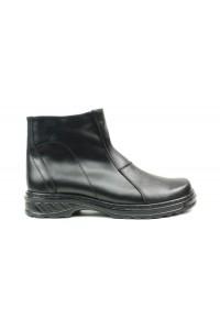 Warme schwarze Stiefel mit...